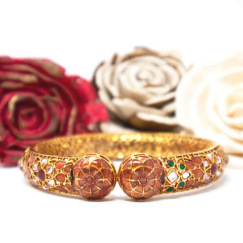 Meena Mystique Bold Bangle - Elegant Heritage Finds
