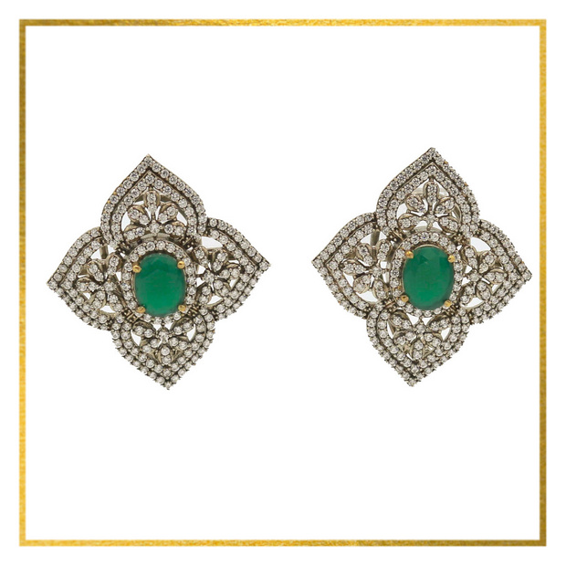 CZ Tops with Green or Red Center Stone - Elegant-Heritage-Finds