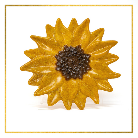 Fused Glass Sunflower - Elegant Heritage Finds