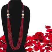 Deep Red Crystal Mala - Elegant-Heritage-Finds