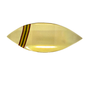Iridescent Light-Amber Curved Fused Glass Petal Tray - Elegant-Heritage-Finds