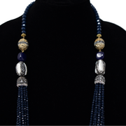 Blue Crystal Mala - Elegant Heritage Finds