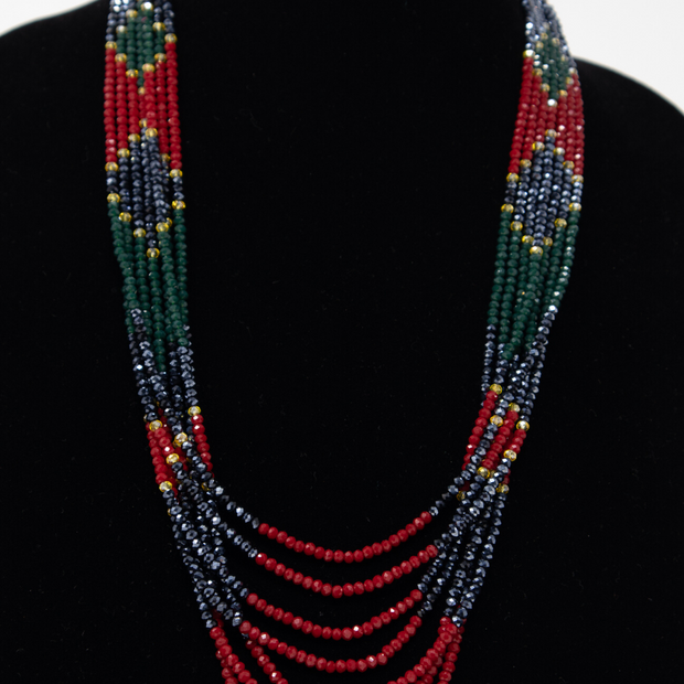 Multi-Colored Crystal Strand Necklace - Elegant-Heritage-Finds