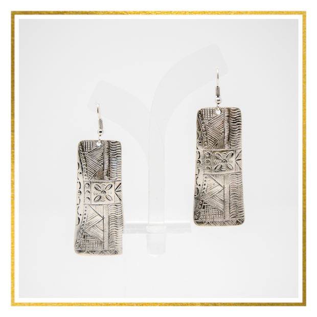 Tribal Bar Earrings - Elegant Heritage Finds