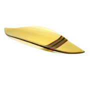 Iridescent Light-Amber Curved Fused Glass Petal Tray - Elegant Heritage Finds