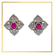 CZ Tops with Green or Red Center Stone - Elegant Heritage Finds