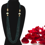 Green Crystal Mala - Elegant Heritage Finds