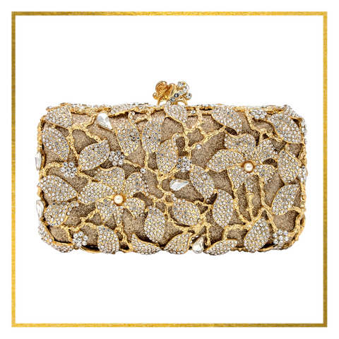 Gold Flower Layered Clutch - Elegant-Heritage-Finds