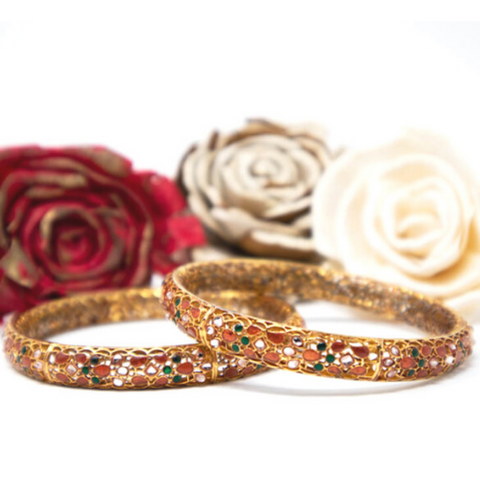 Meena Mystique Bangle - Elegant-Heritage-Finds