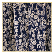Full Embroidered Blue Velvet Shawl - Elegant Heritage Finds