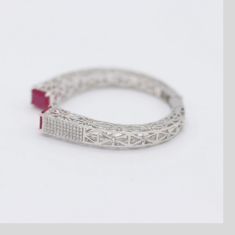 Fuchsia Open-style Bangle - Elegant-Heritage-Finds