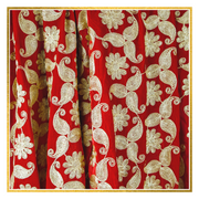 Red Floral Velvet Shawl - Elegant Heritage Finds