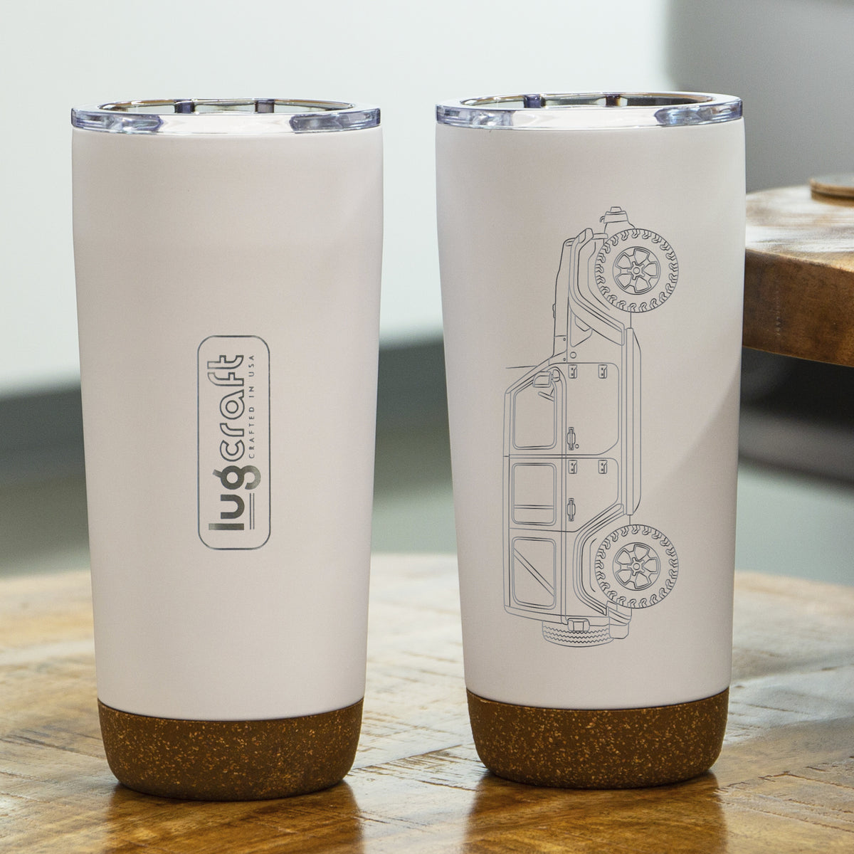 Jeep Wrangler 4 Door Side Profile Insulated Stainless Steel Coffee Tumbler - 20 oz