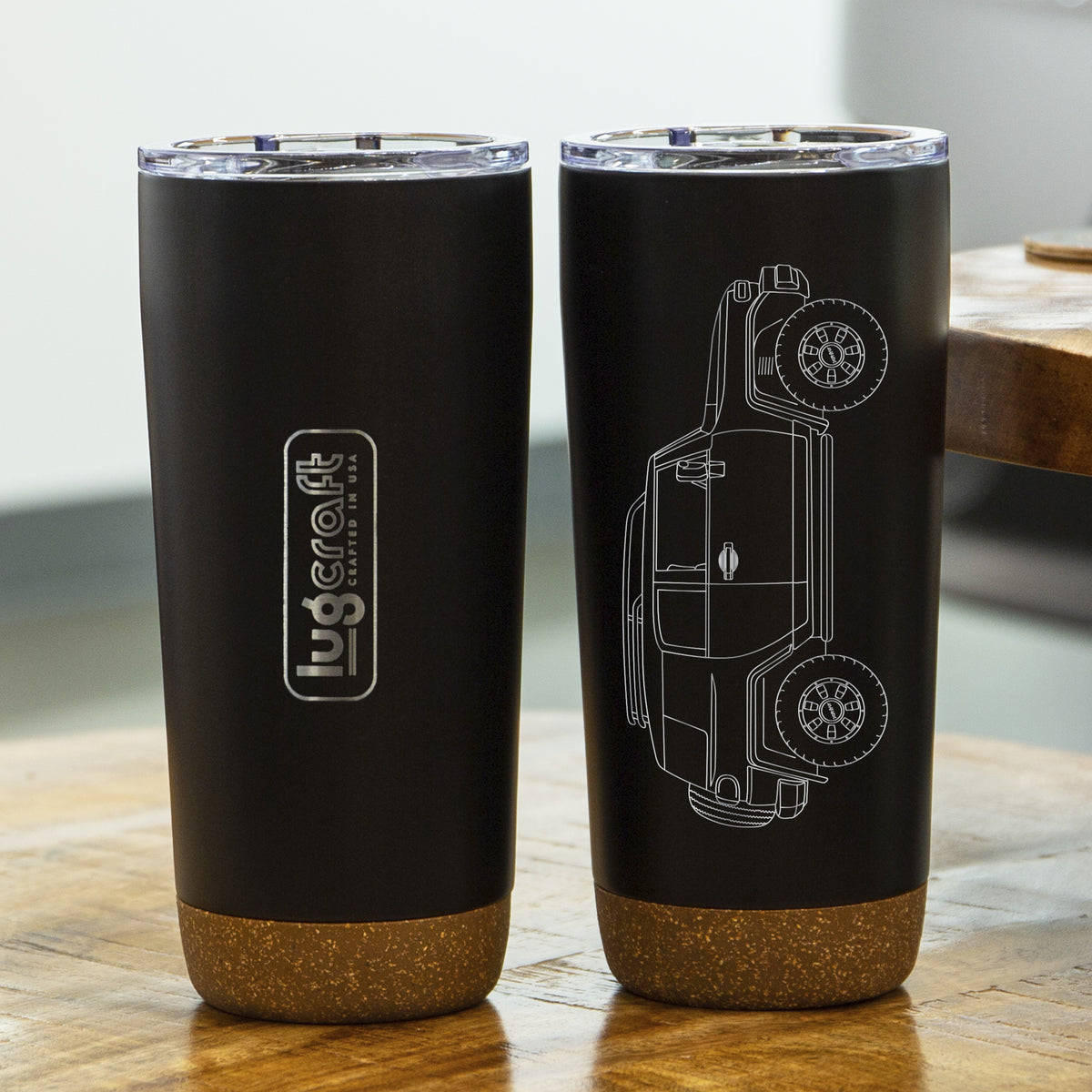 Toyota FJ Cruiser Side Profile Insulated Stainless Steel Coffee Tumbler - 20 oz