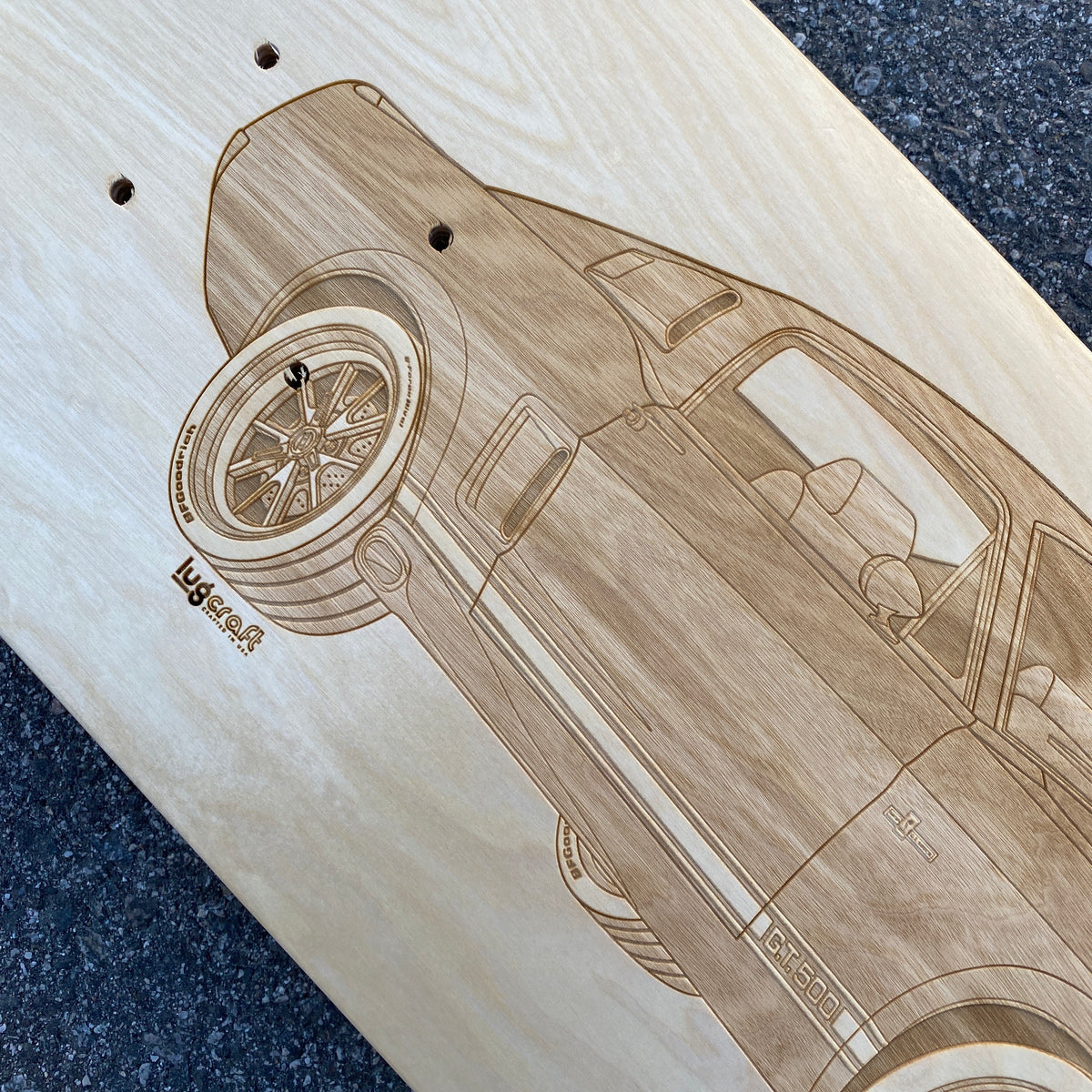 Ford Mustang GT500 Skateboard Deck Art