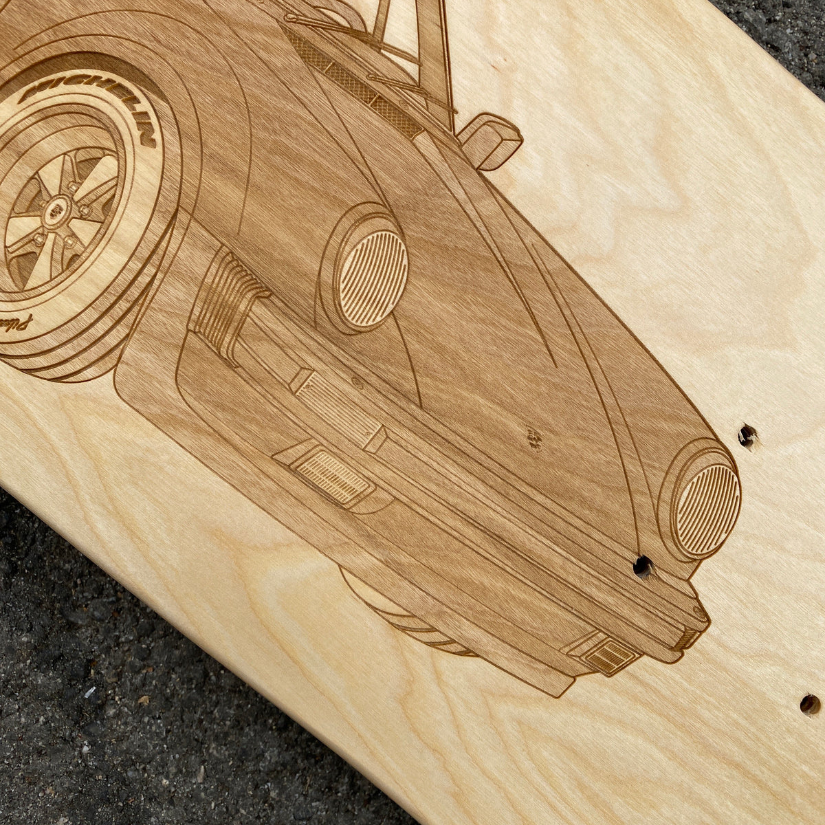 Porsche 930 Turbo Cabriolet Skateboard Deck Art