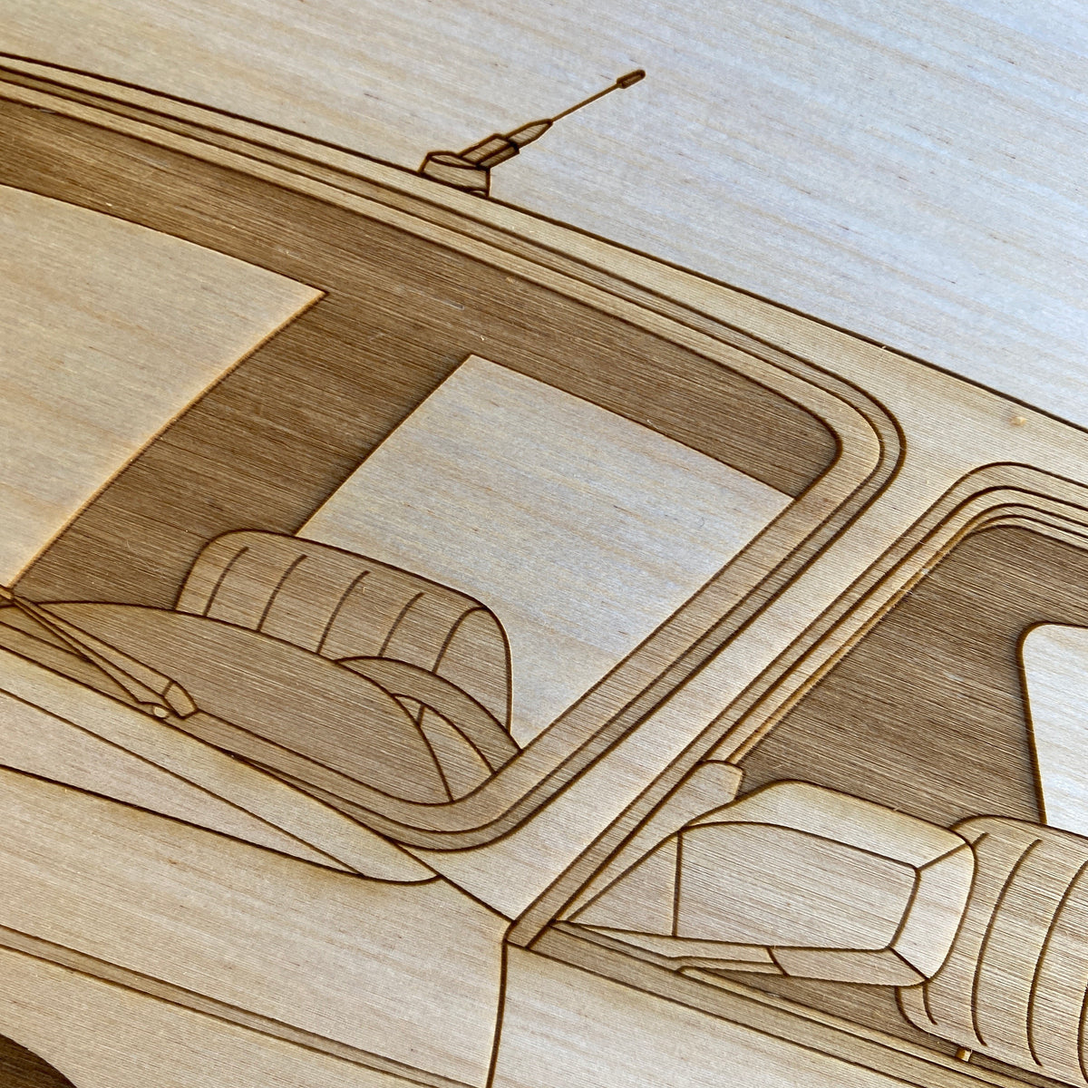 BMW M3 e30 Framed Wood Engraved Artwork