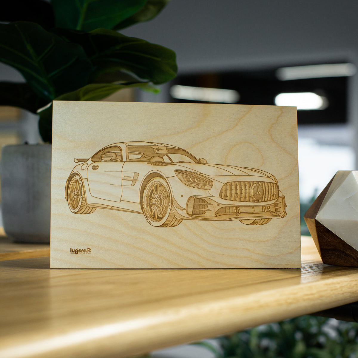 "AMG GTR Pro Collectible Engraving - 6"" x 9"""
