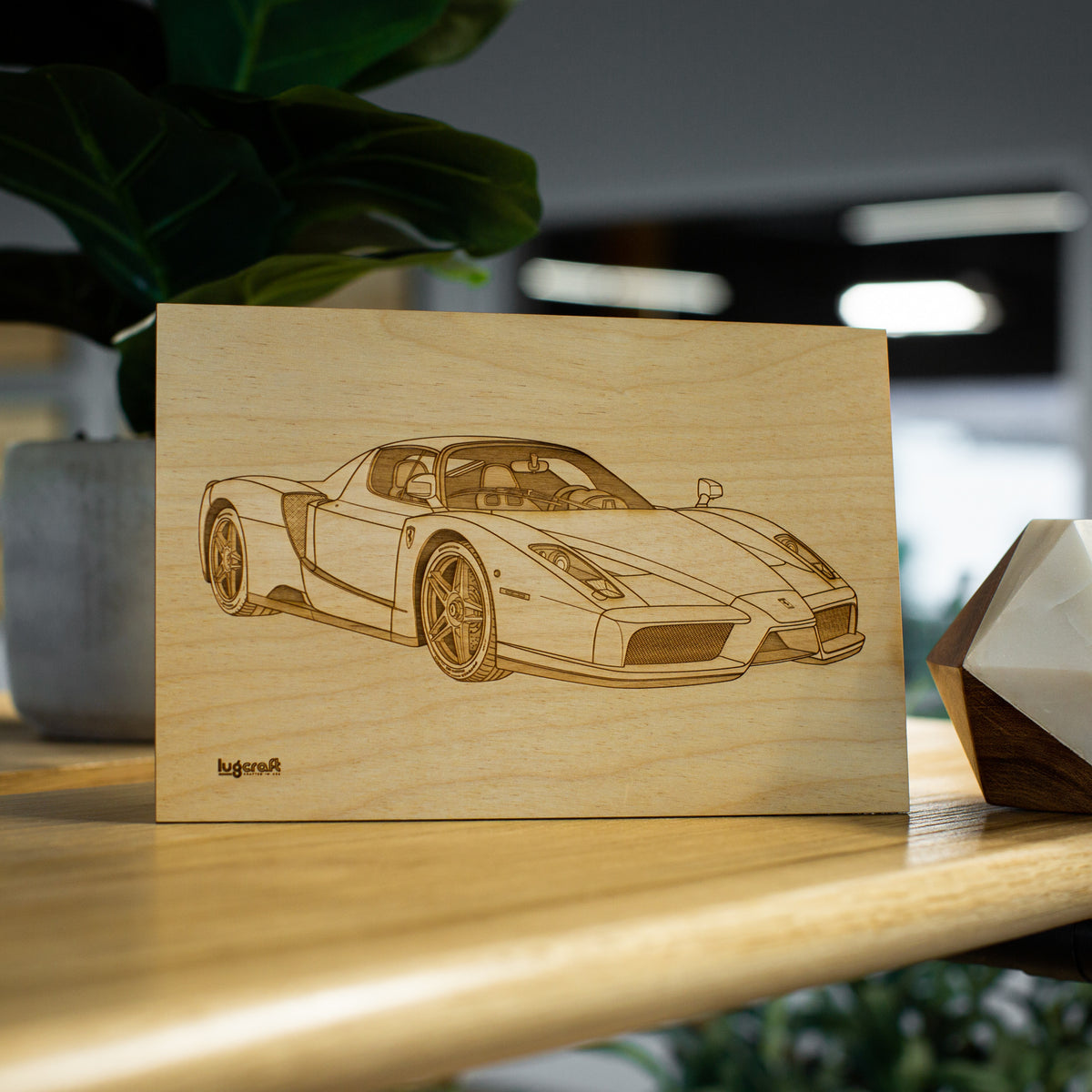 "Ferrari Enzo Collectible Engraving - 6"" x 9"""