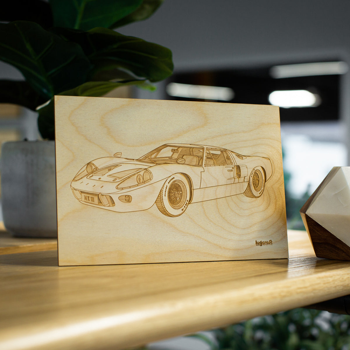 "Ford GT40 Collectible Engraving - 6"" x 9"""