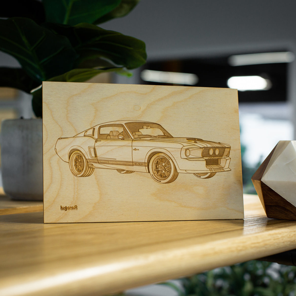 "Ford Mustang GT500 Collectible Engraving - 6"" x 9"""