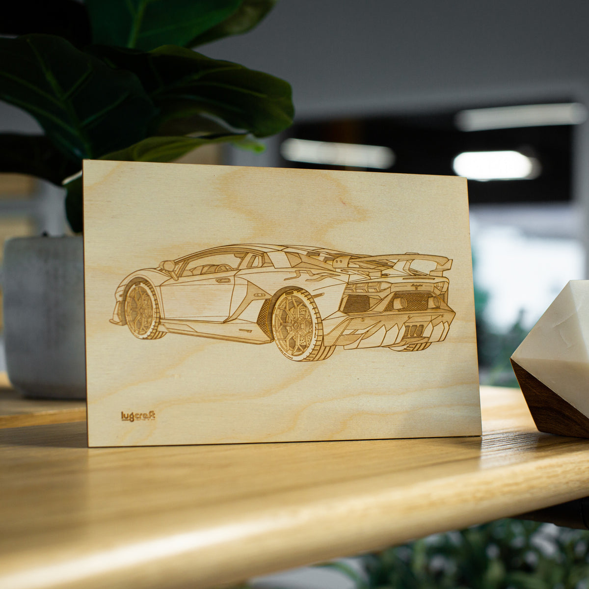 "Lamborghini Aventador SVJ Collectible Engraving - 6"" x 9"""