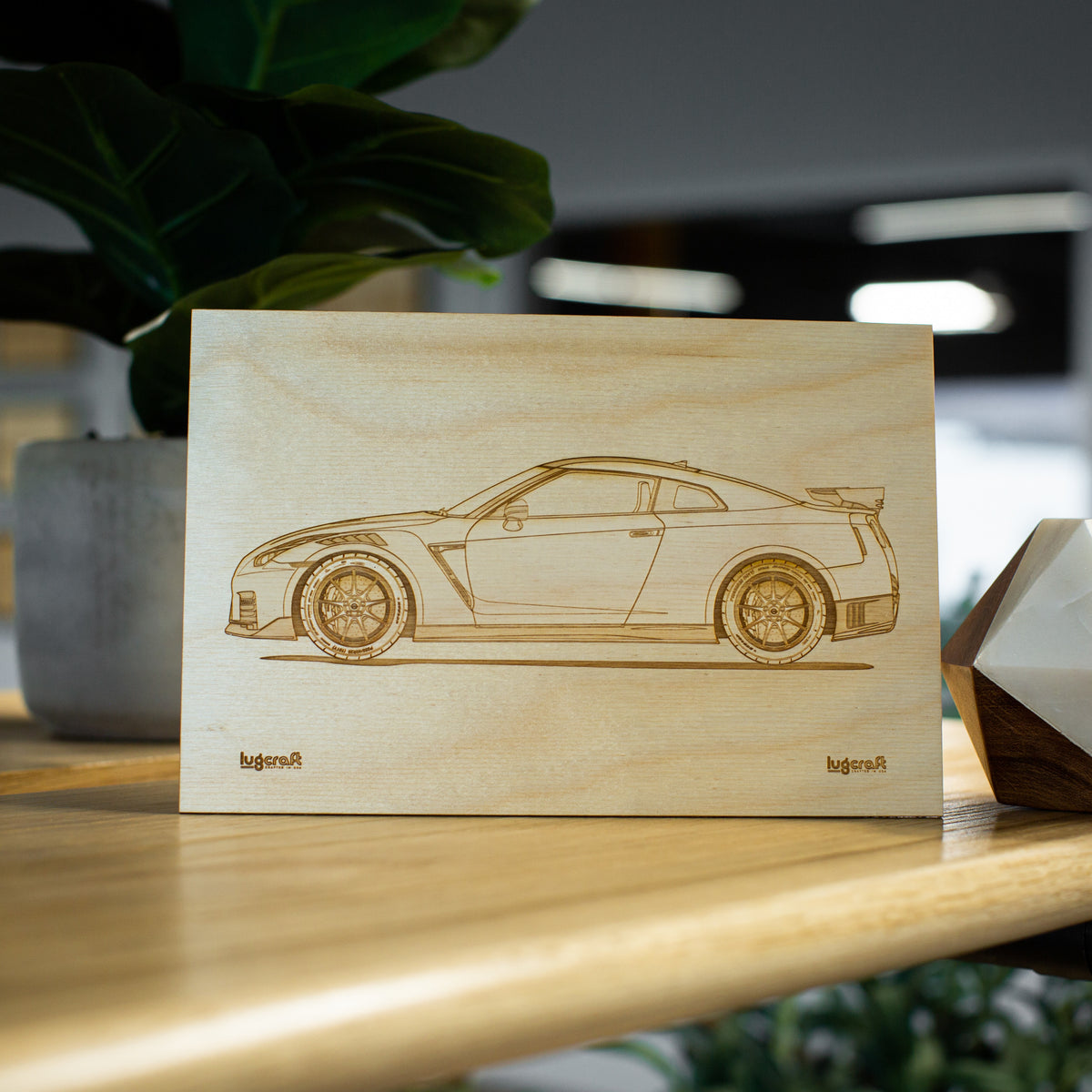 "Nissan GT-R r35 Collectible Engraving - 6"" x 9"""