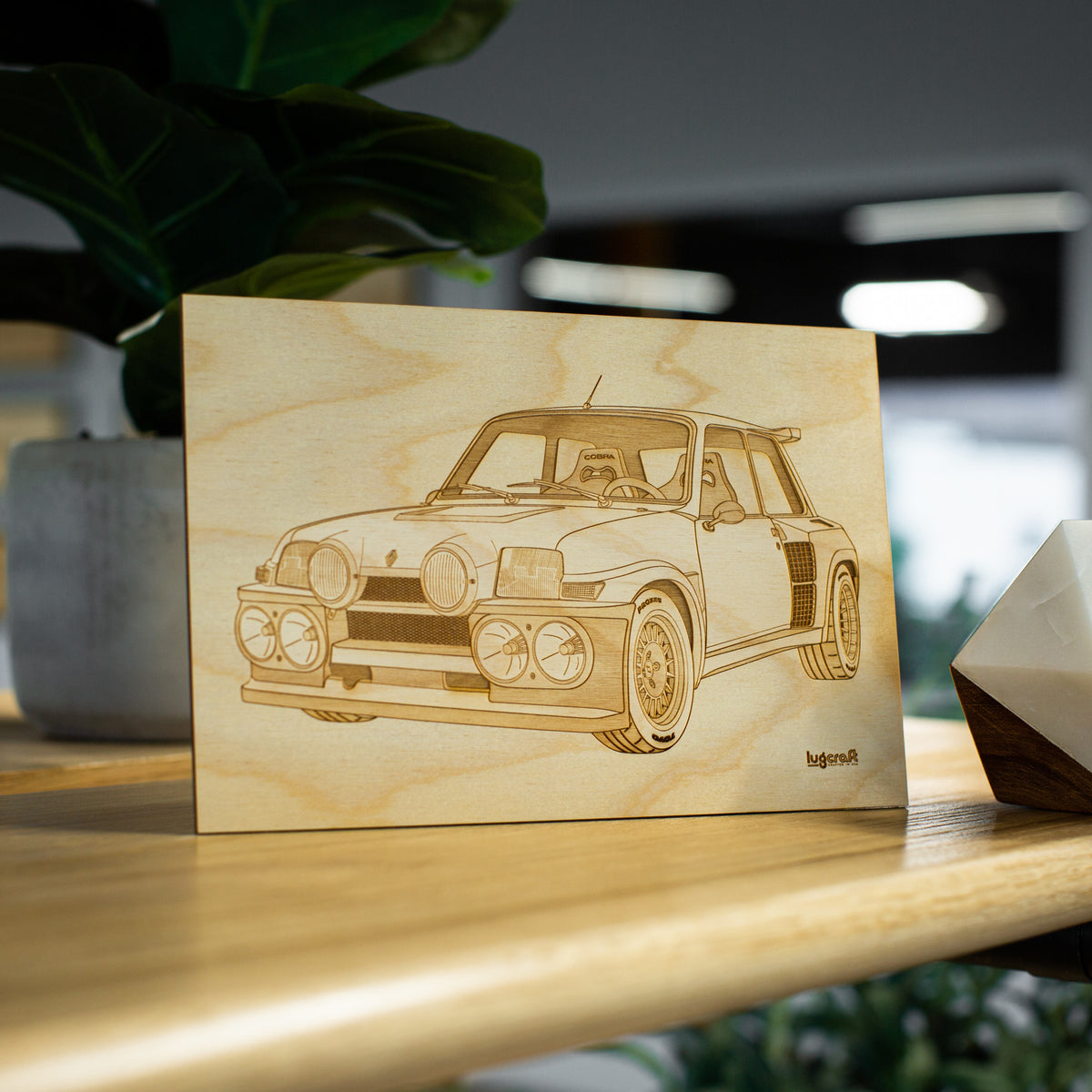 "Renault 5 Turbo Collectible Engraving - 6"" x 9"""