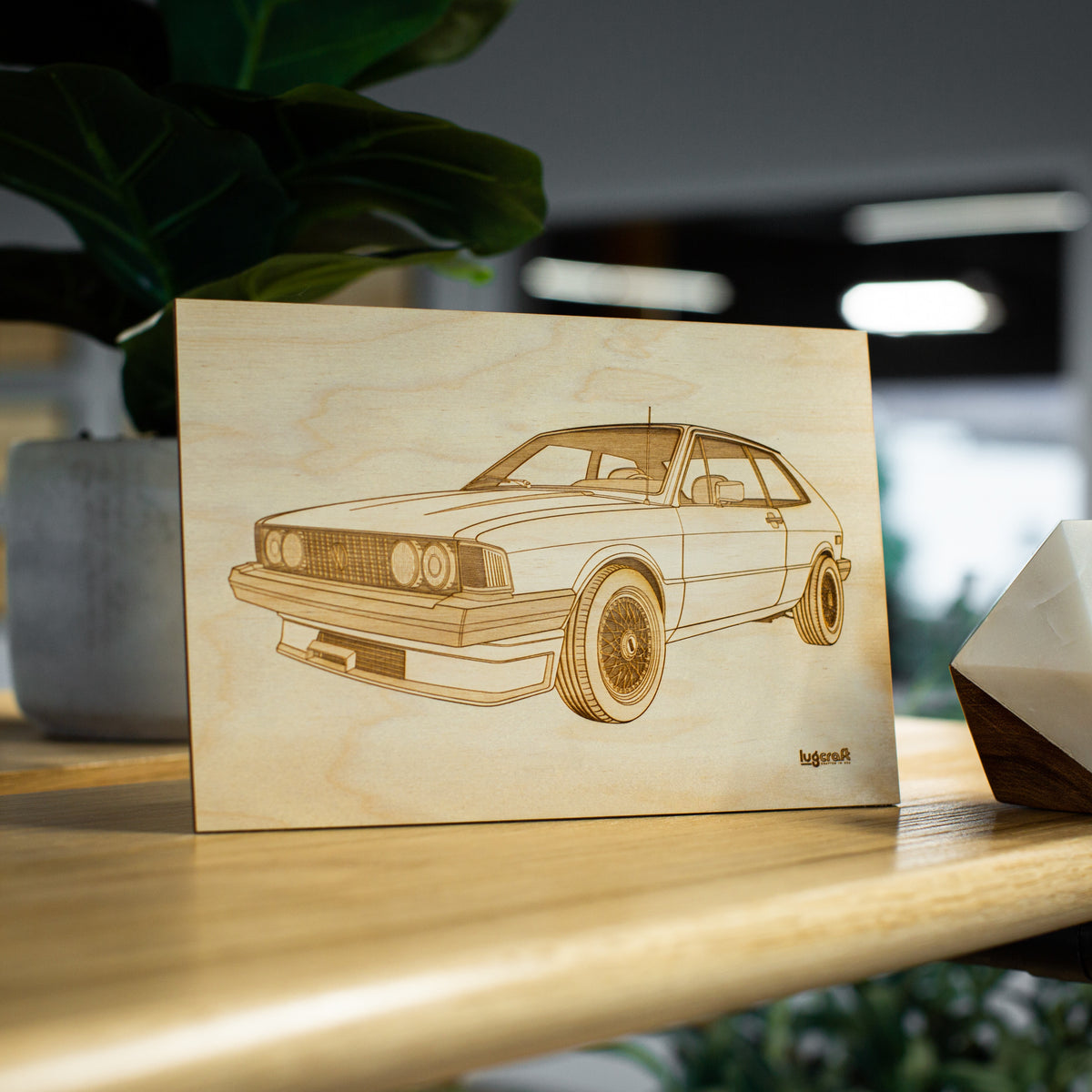 "VW Scirocco Collectible Engraving - 6"" x 9"""