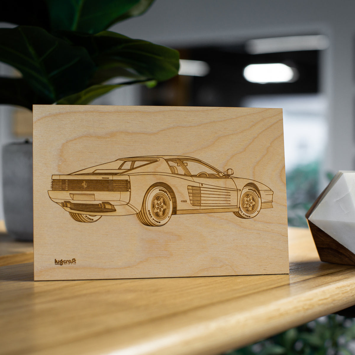 Ferrari Testarossa Collectible Engraving