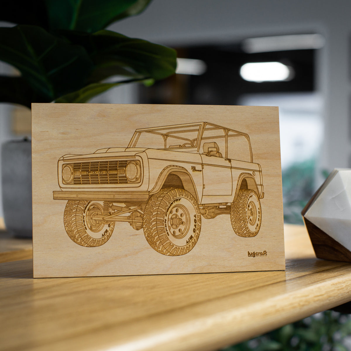 Ford Bronco 1966 Collectible Engraving