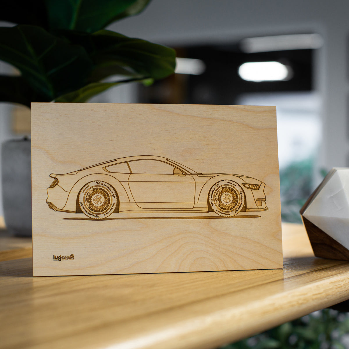 "Ford Mustang EcoBoost Collectible Engraving - 6"" x 9"""