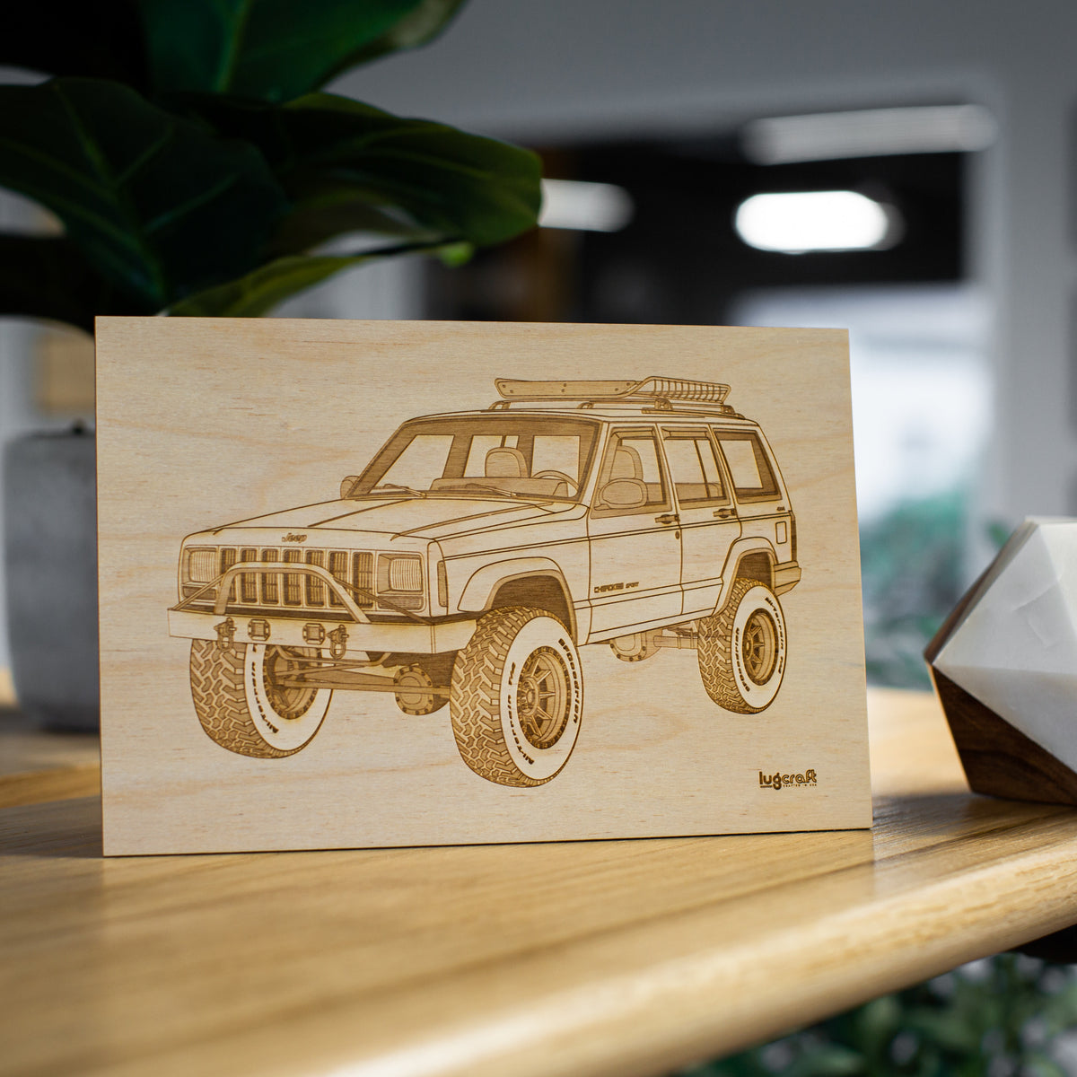 "Jeep Cherokee Sport XJ Collectible Engraving - 6"" x 9"""