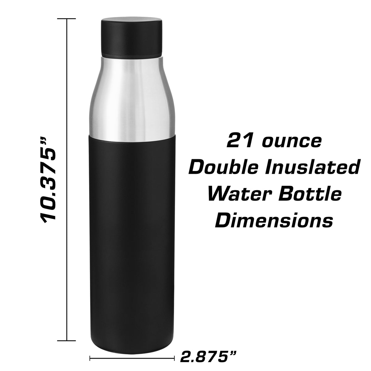 AMG GTR Pro Side Insulated Stainless Steel Water Bottle - 21 oz