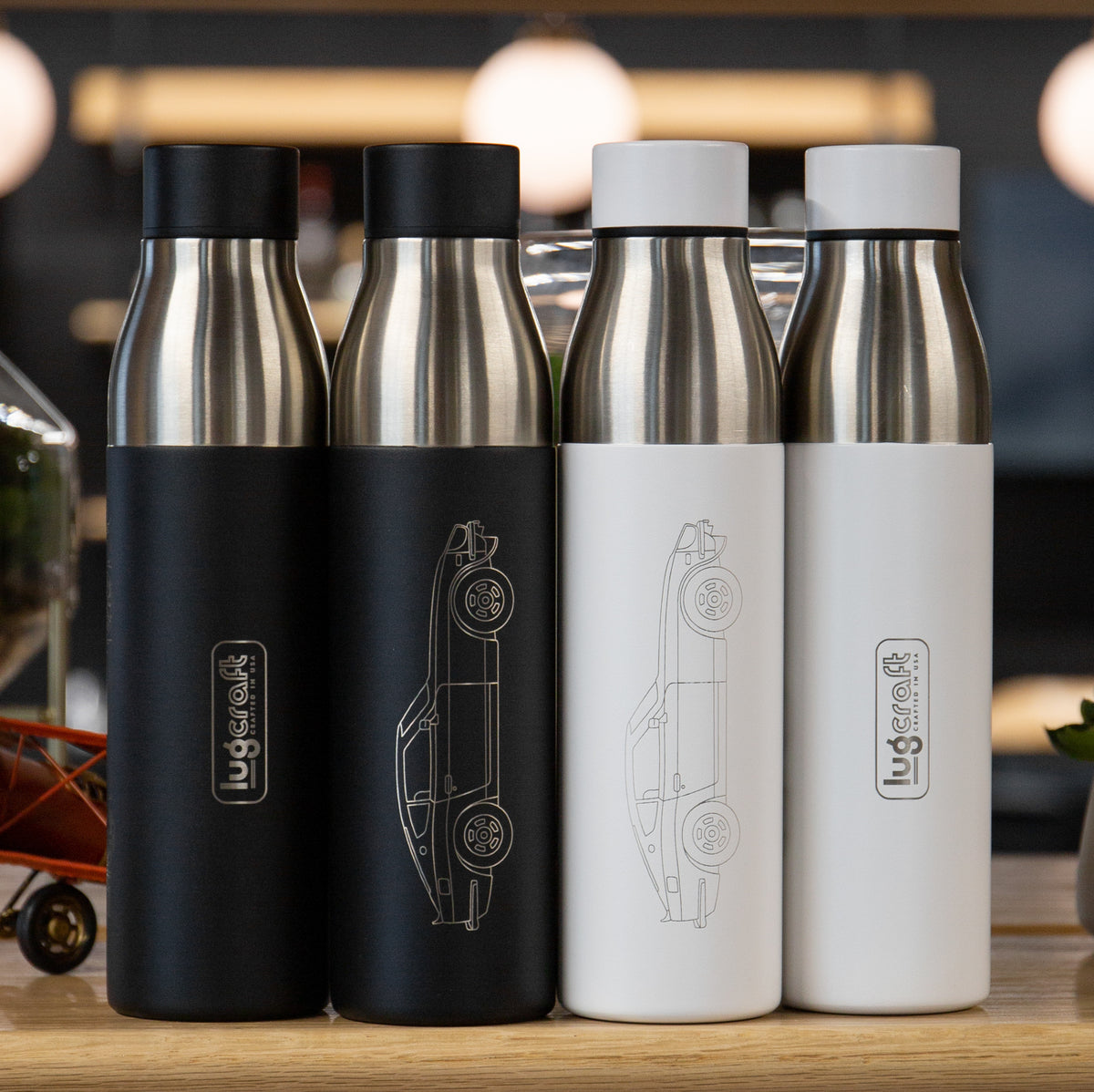 Datsun 240z Side Profile Insulated Stainless Steel Water Bottle - 21 oz