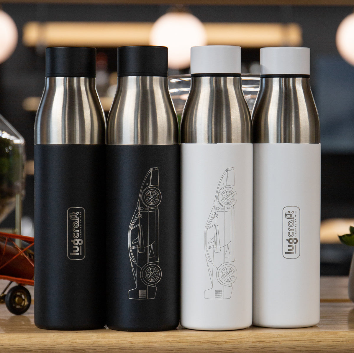 Ferrari F40 Side Profile Insulated Stainless Steel Water Bottle - 21 oz