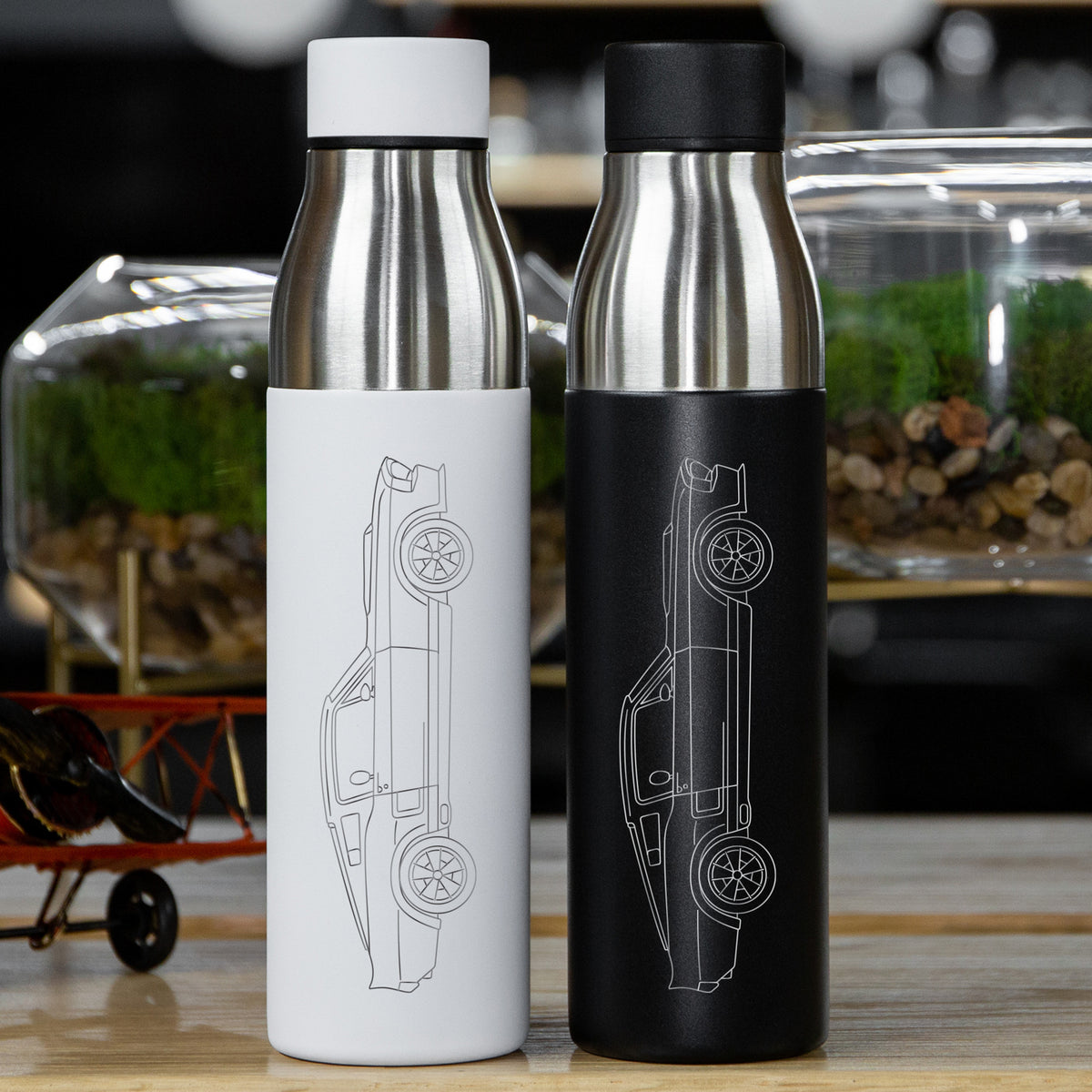 Ford Mustang Shelby GT500 1967 Side Profile Insulated Stainless Steel Water Bottle - 21 oz