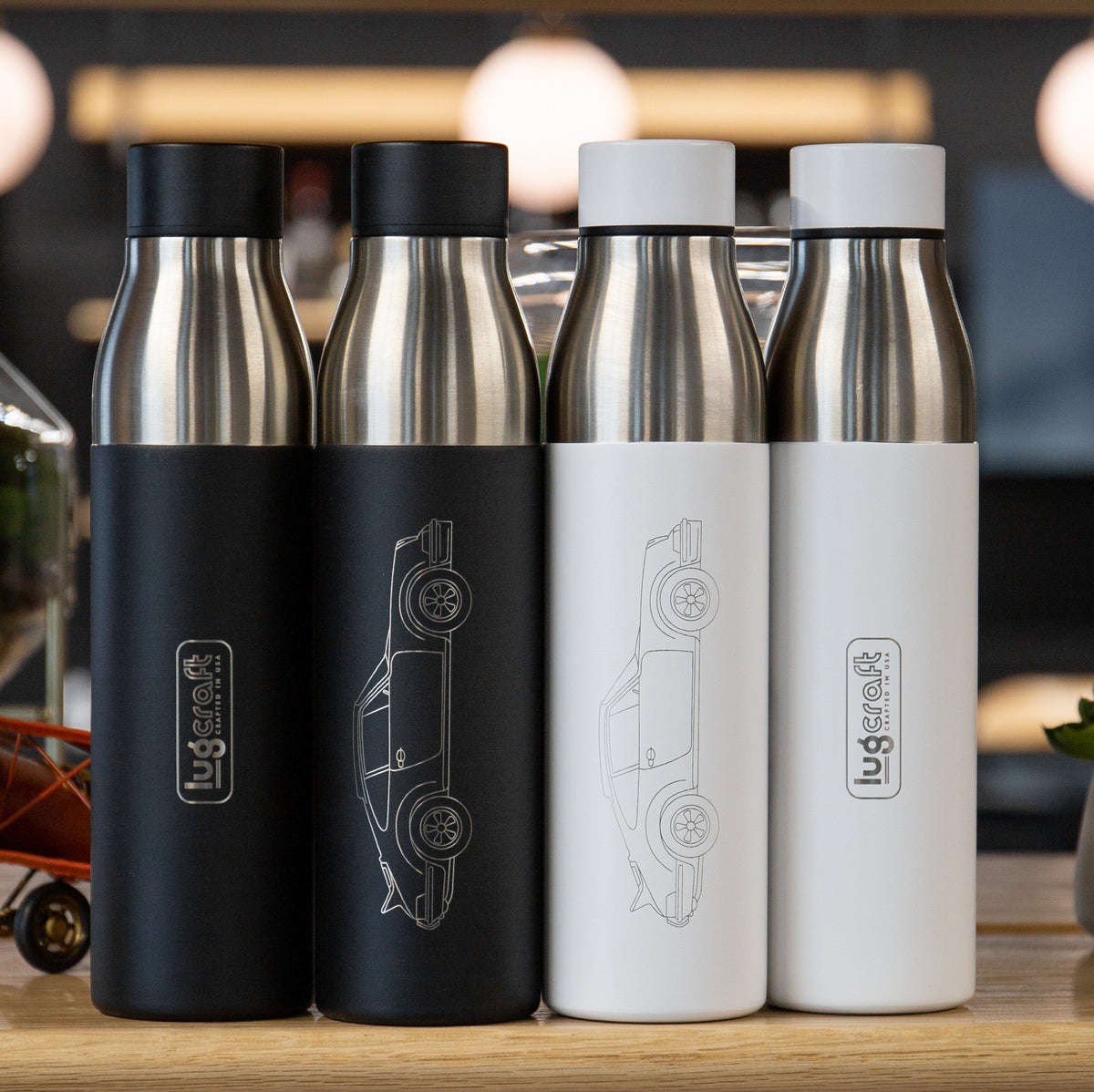 Porsche Carrera 911 RS 1973 Insulated Stainless Steel Water Bottle - 21 oz
