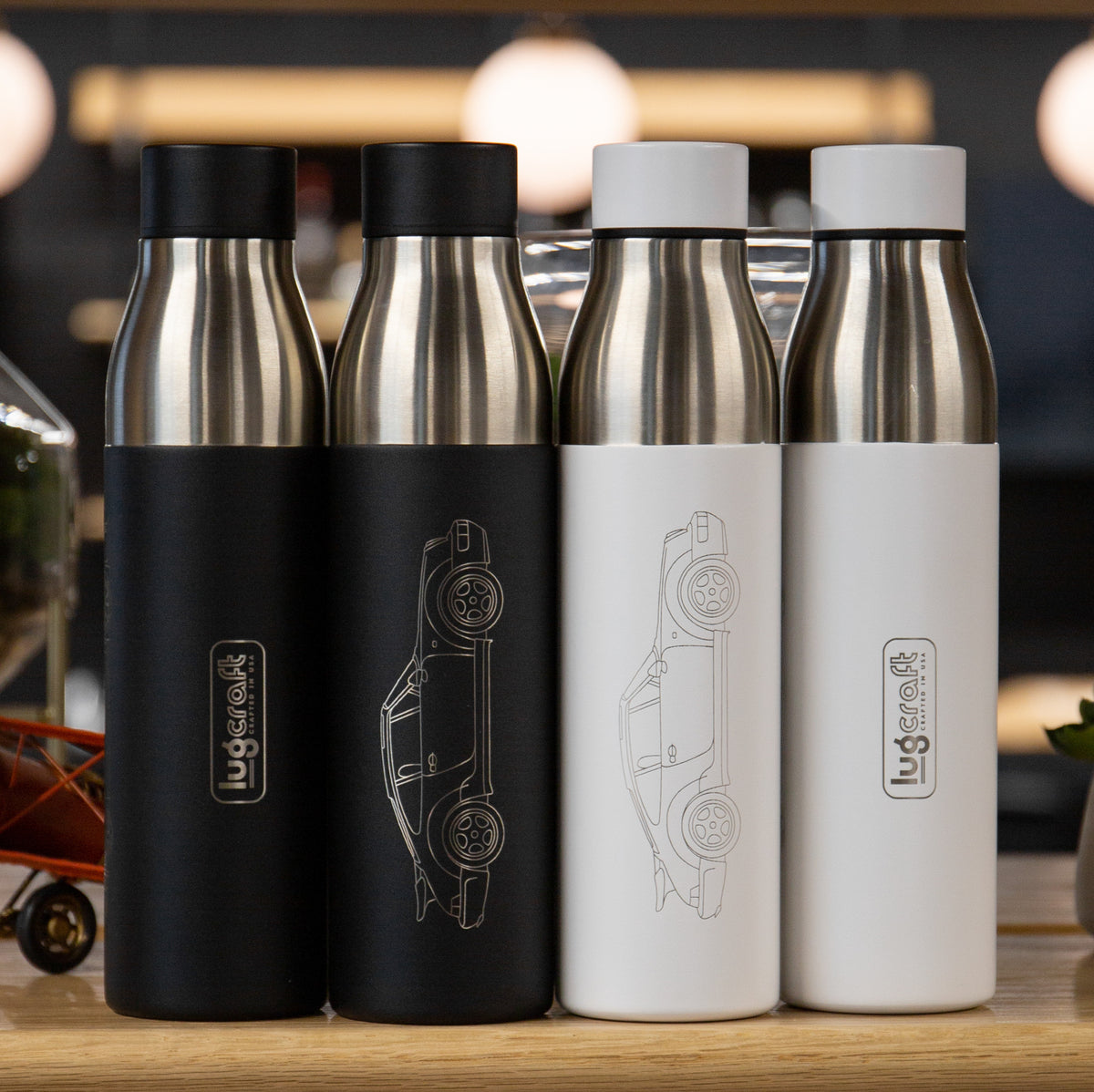 Porsche 964 Turbo Insulated Stainless Steel Water Bottle - 21 oz