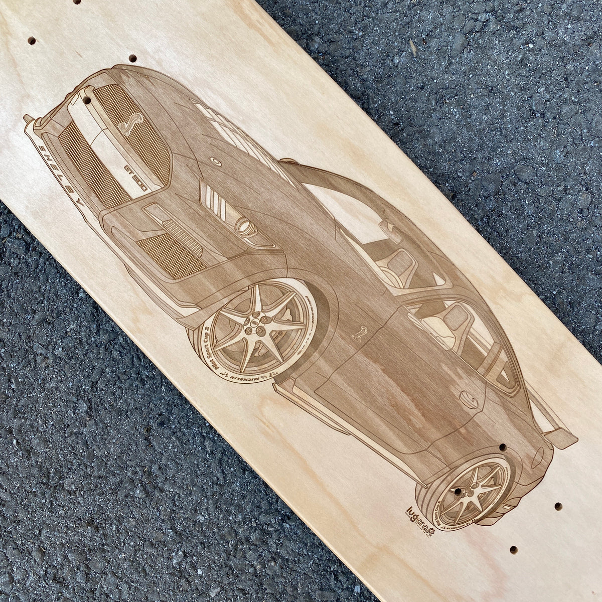 Ford Mustang Shelby GT500 2020 Skateboard Deck Wall Art