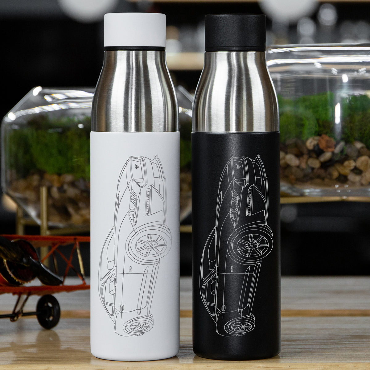 Ford Mustang GT 2020 Insulated Stainless Steel Water Bottle - 21 oz
