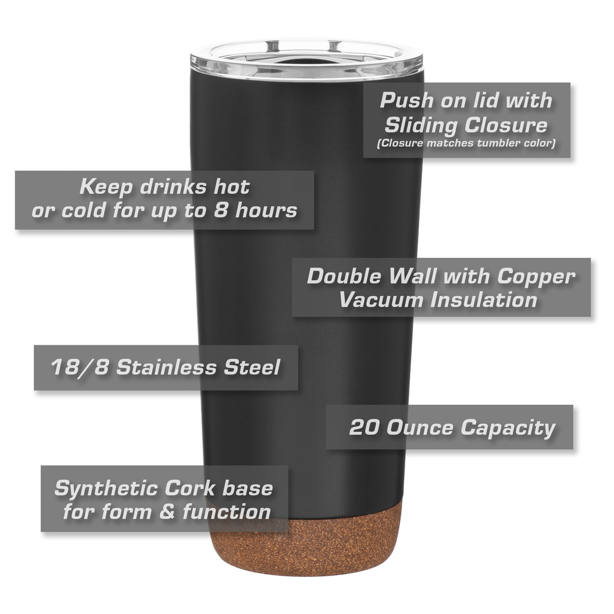 Ford Mustang Ecoboost Insulated Stainless Steel Coffee Tumbler - 20 oz