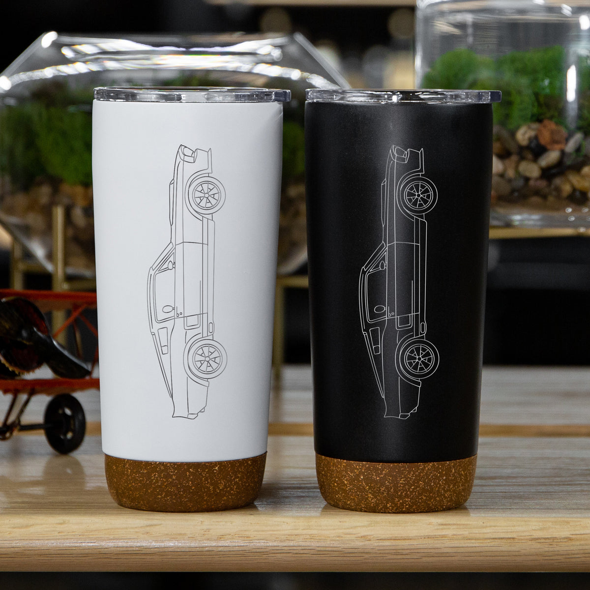 Ford Mustang Shelby GT500 1967 Side Profile Insulated Stainless Steel Coffee Tumbler - 20 oz