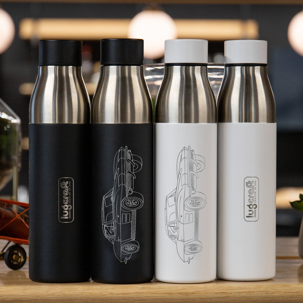 Chevy Corvette C2 Stingray 1963 Insulated Stainless Steel Water Bottle - 21 oz