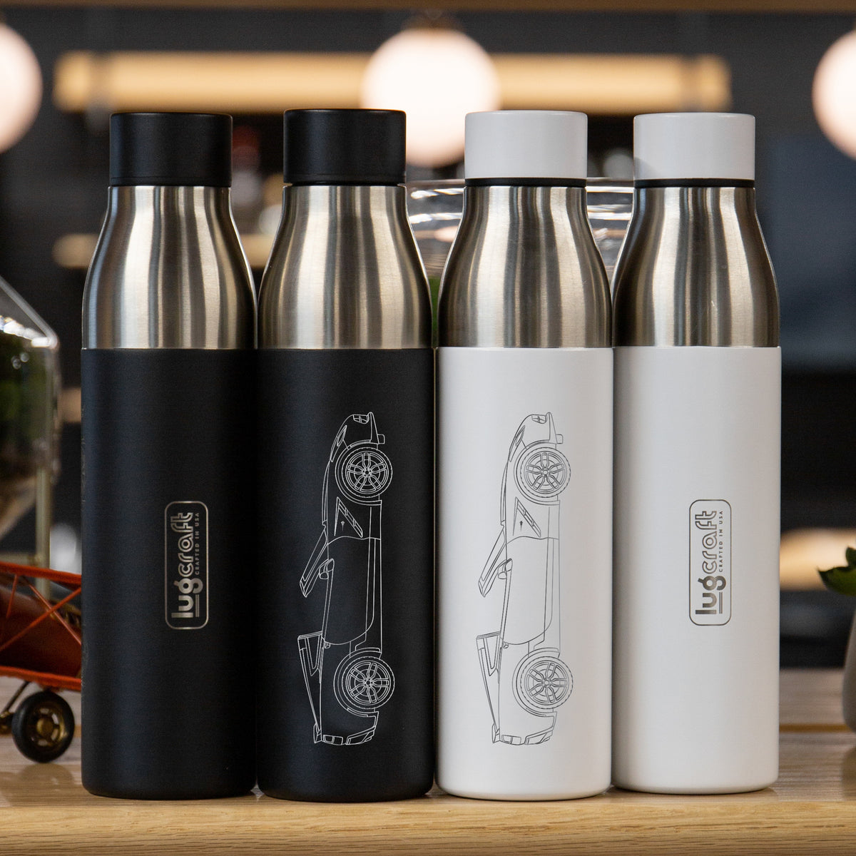 Chevy Corvette C7 Stingray Insulated Stainless Steel Water Bottle - 21 oz