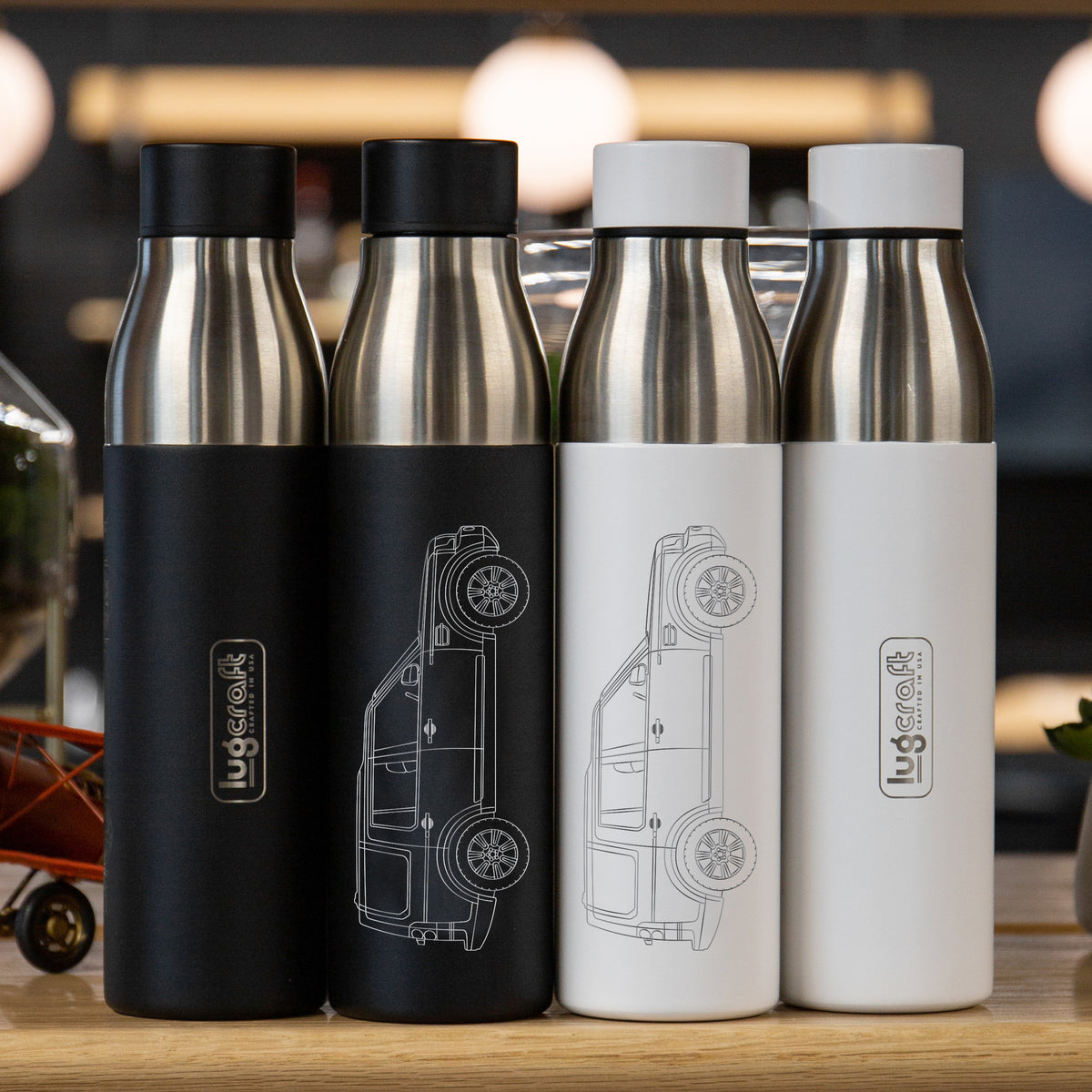 Land Rover LR4 2017 Insulated Stainless Steel Water Bottle - 21 oz