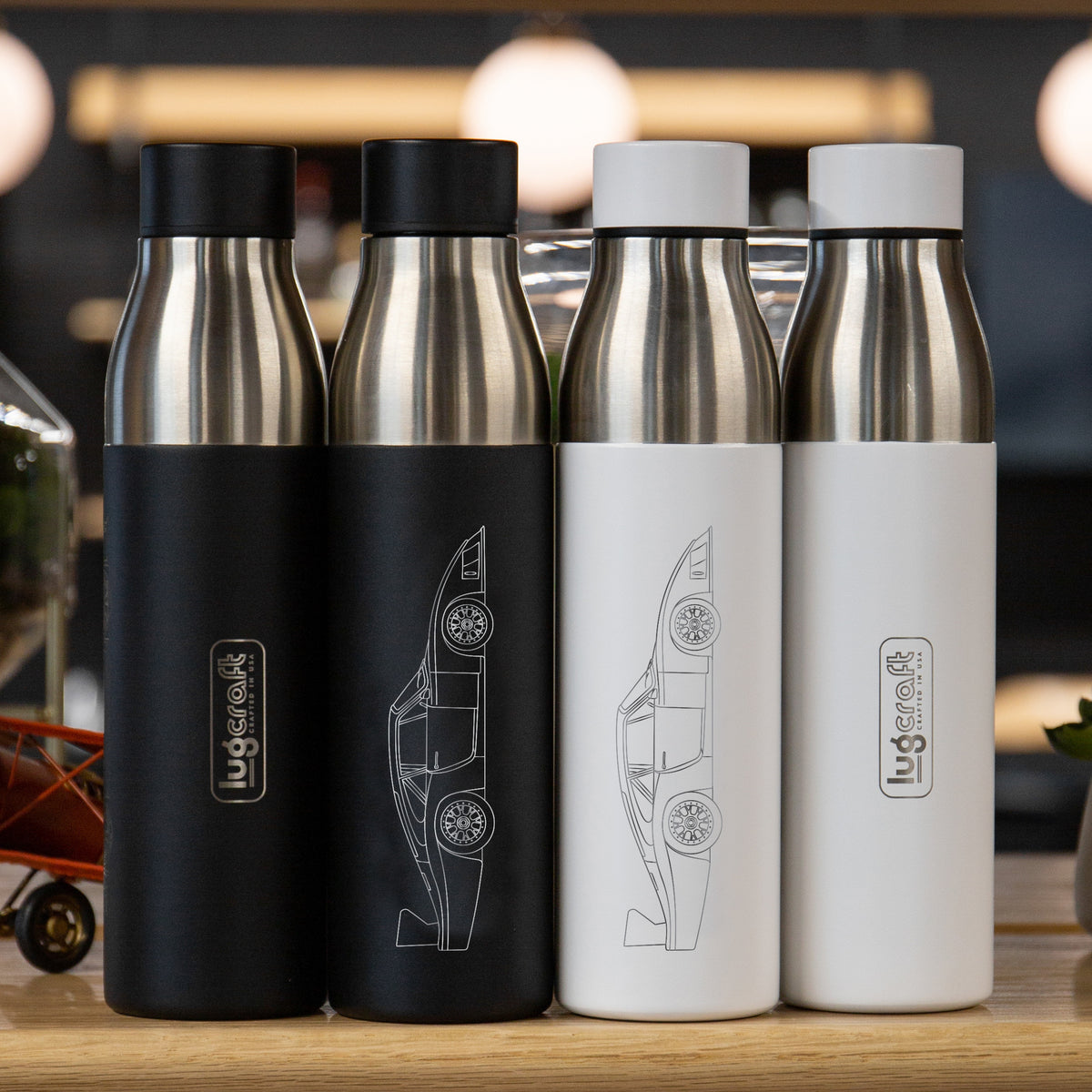 Porsche 935/78 Side Profile Insulated Stainless Steel Water Bottle - 21 oz