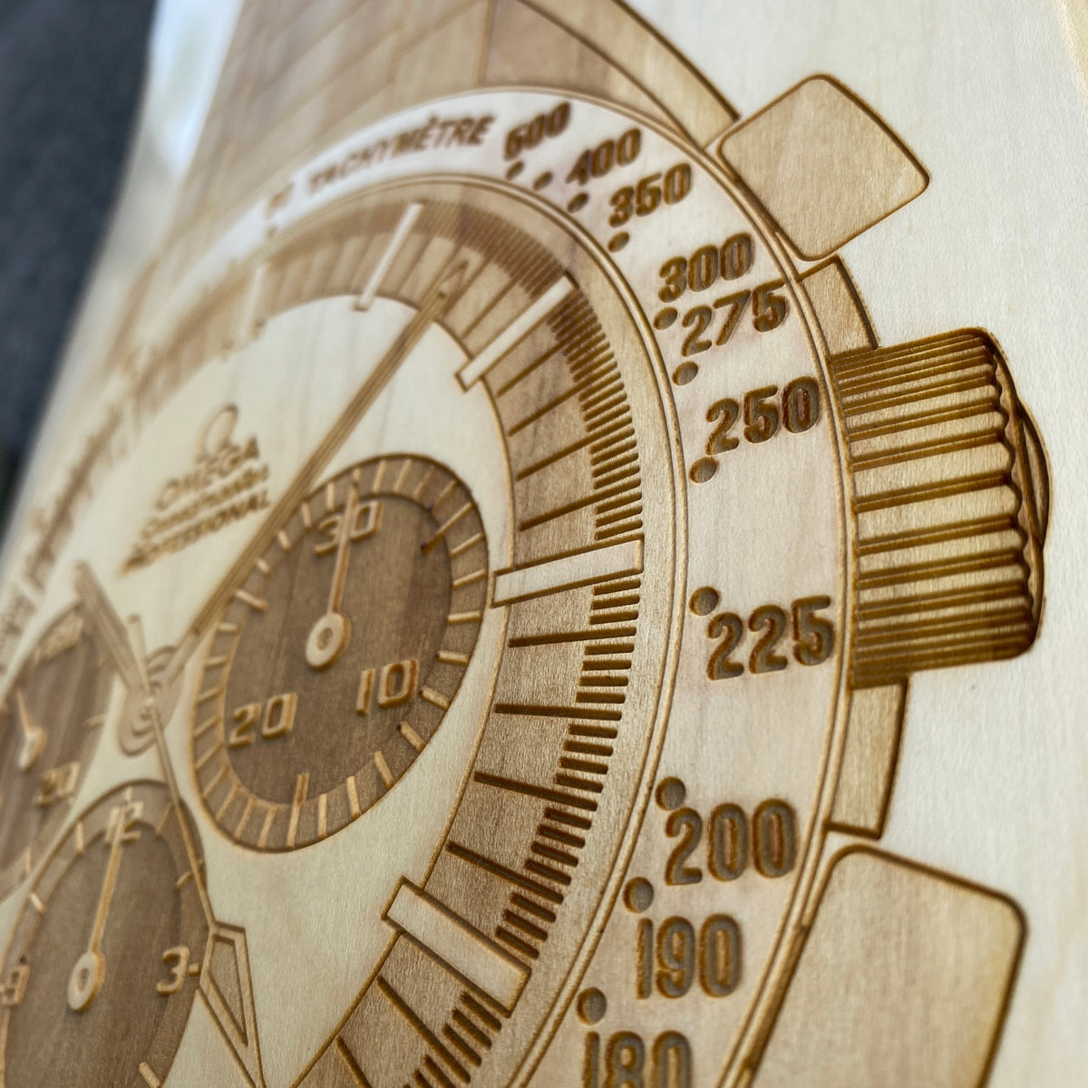 Omega Speedmaster Skateboard Deck Wall Art - Lugcraft Inc