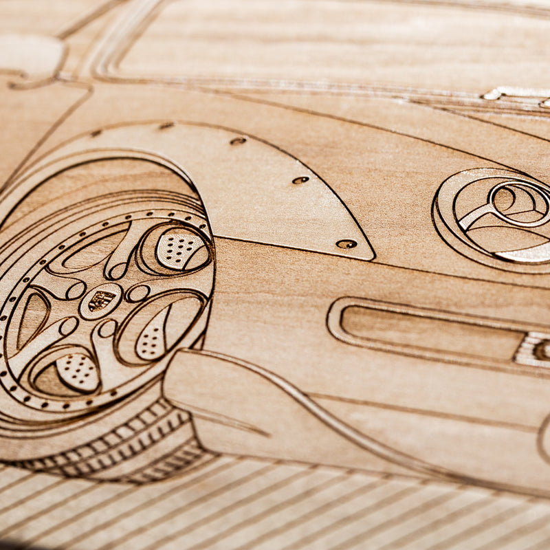 PO 993 GT2 Skateboard Wall Art - Natural Maple
