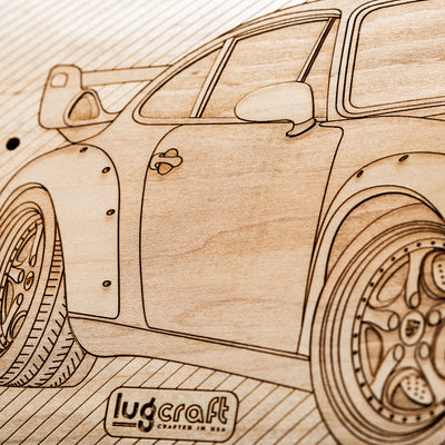 PO 993 GT2 Skateboard Wall Art - Natural Maple - Lugcraft
